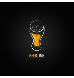 beer glass party time concept design background vector image vector image