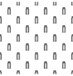 British phone booth pattern simple style vector image