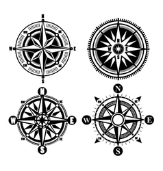 compass icons vector image