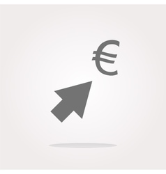 Currency exchange icons euro money sign with vector image vector image