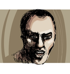 man face artistic drawing vector image vector image