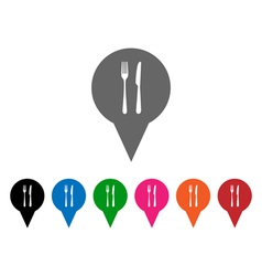 Restaurant pointers vector image vector image