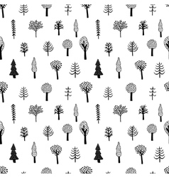 simple tree pattern vector image vector image