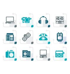 stylized electronics media technical equipment vector image vector image