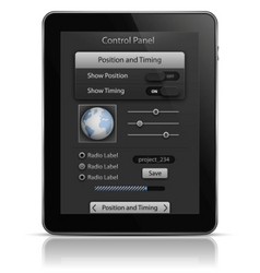 tablet pc with ui elements vector image
