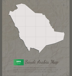 vintage saudi arabia map paper card map vector image