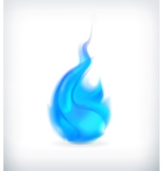 Blue fire icon vector image