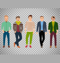 confident fashion man on transparent background vector image vector image