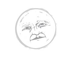 Moon Face 1 vector image vector image