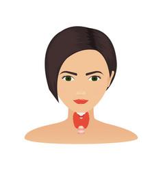Thyroid gland of a woman vector
