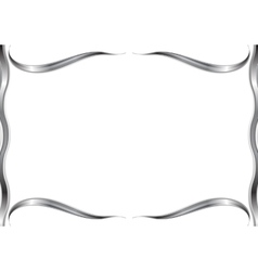 Abstract wavy pattern frame vector image