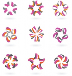 star icons and logos vector image vector image