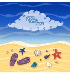 Summer tropical beach banner vector image vector image