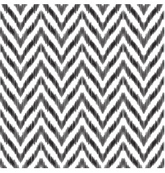 The ikat zigzag seamless pattern vector