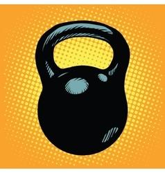 Black retro kettlebell sports equipment vector image vector image