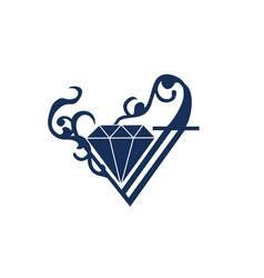 Diamond logo ornament vector