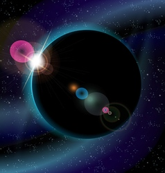 eclipse of planet vector image