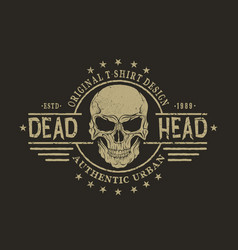 retro emblem with skull vector image vector image