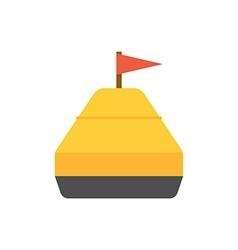 Sea Yellow Buoy vector image
