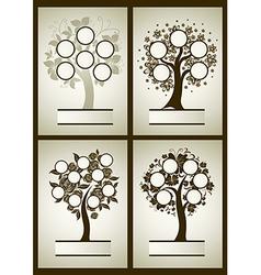 Set of family tree 1 vector