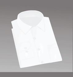 white packed men shirt vector image vector image