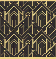 Abstract art deco seamless modern tiles pattern vector