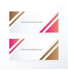 Abstract banner pink brown vector