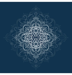 Abstraction on blue background vector image