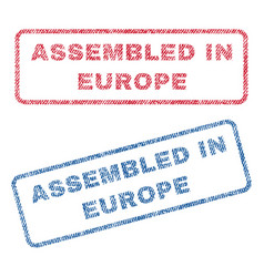 assembled in europe textile stamps vector image