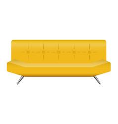 bar leather sofa mockup realistic style vector image