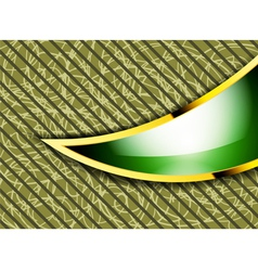 Beautiful bright green and gold frame abstract vector image