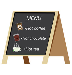 Beverage menu on the board vector