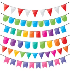Bunting and party flags vector