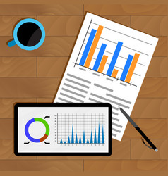 Business statistics on table vector