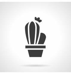 Cactus black glyph style icon vector image