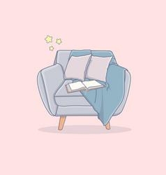 Cartoon of a comfortable armchair vector