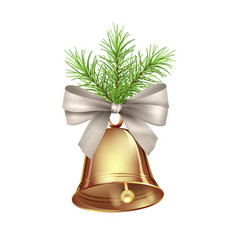 christmas bell decoration vector image