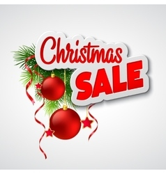 Christmas sale template vector image