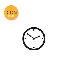 clock icon isolated flat style vector image