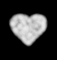 cloud heart white smoke vector image
