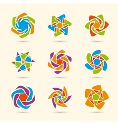 color ornament set vector image