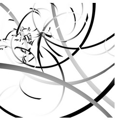 Curved lines randomly scattered malformed lines vector