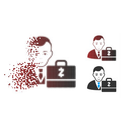damaged pixel halftone zcash accounter icon vector image