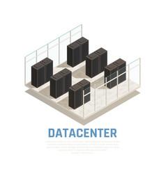 Datacenter concept vector