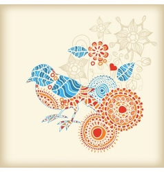 decorative bird vector image vector image