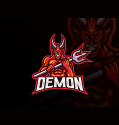 demon mascot sport logo design vector image
