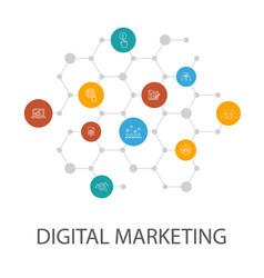 digital marketingpresentation template cover vector image