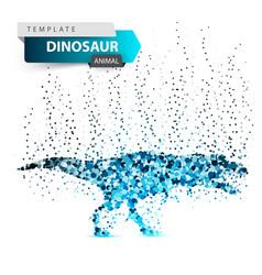 dino dinosaur - ice dot vector image