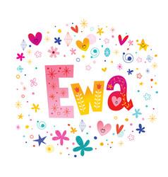 Ewa girls name vector