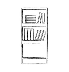 figure education bookcase with books and folder vector image